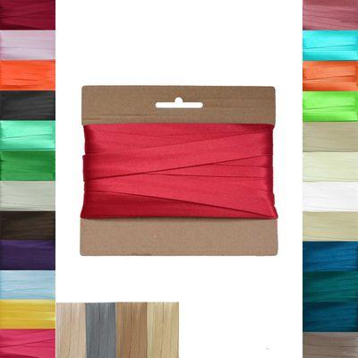 20m Schrägband Satin 20mm gefalzt Kantenband Einfassband 29 Farben wählbar