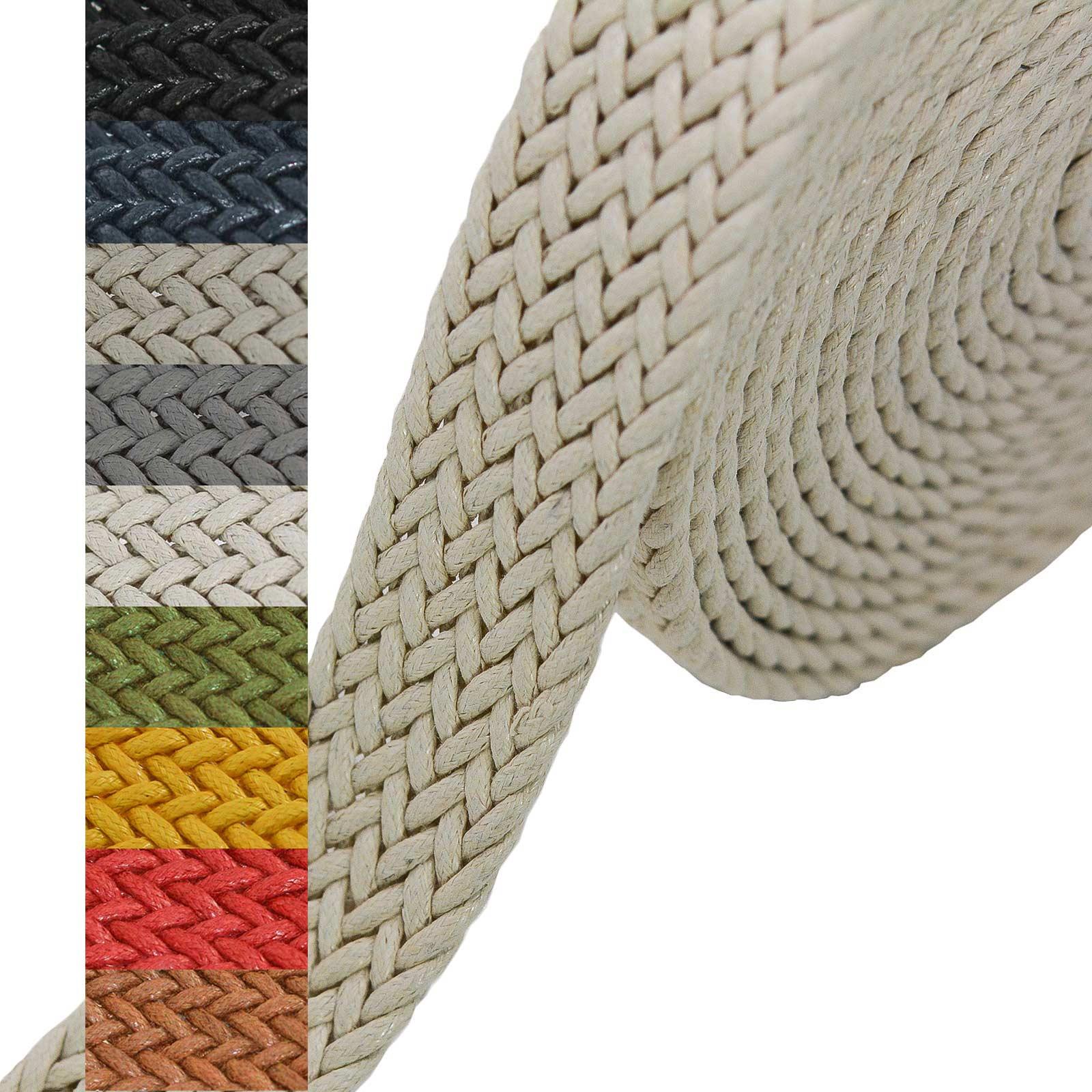 1m Gurtband geflochten Gurte Gurtbänder Kurzwaren Tragegurt Taschengurt Variantenwahl – Bild 6