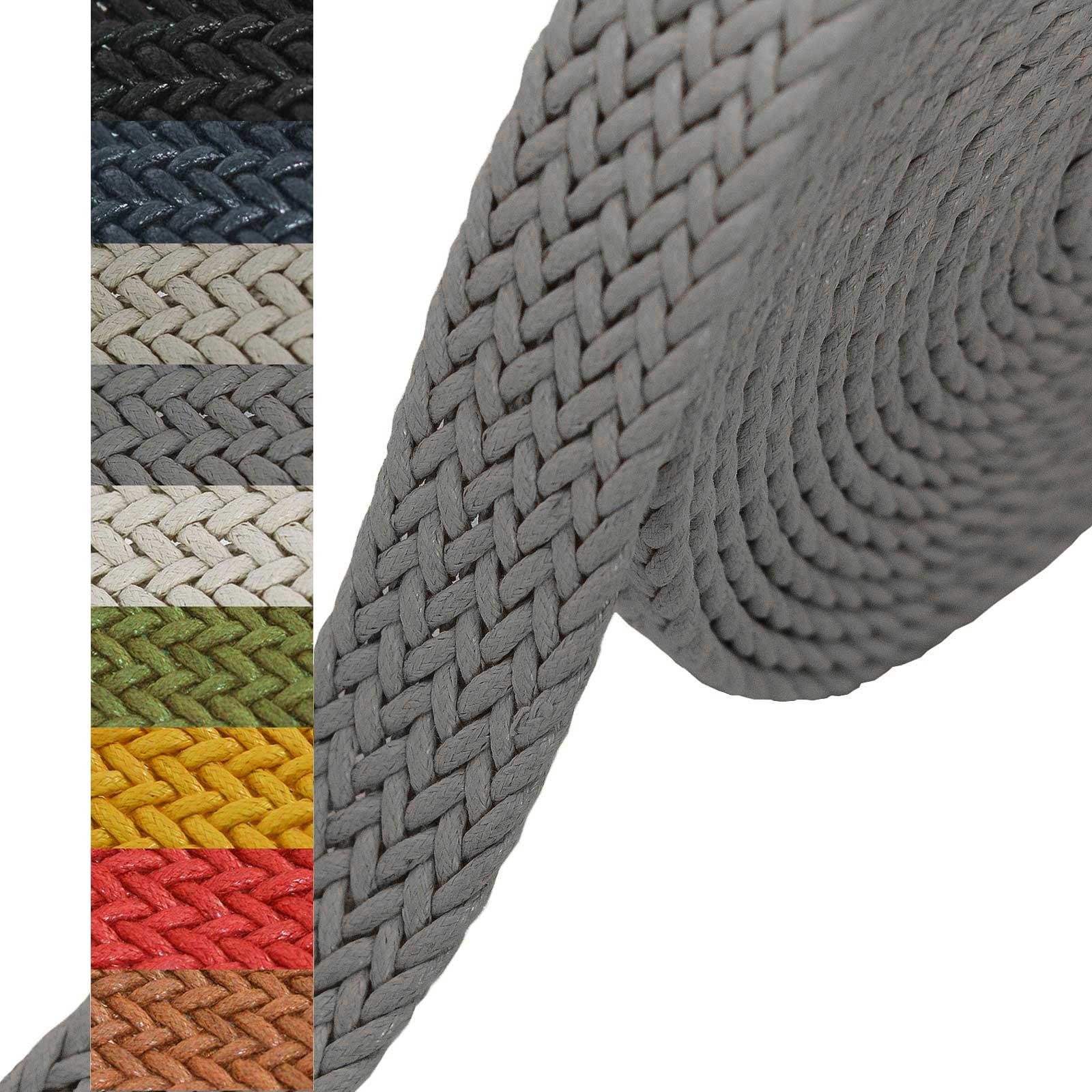 1m Gurtband geflochten Gurte Gurtbänder Kurzwaren Tragegurt Taschengurt Variantenwahl – Bild 22