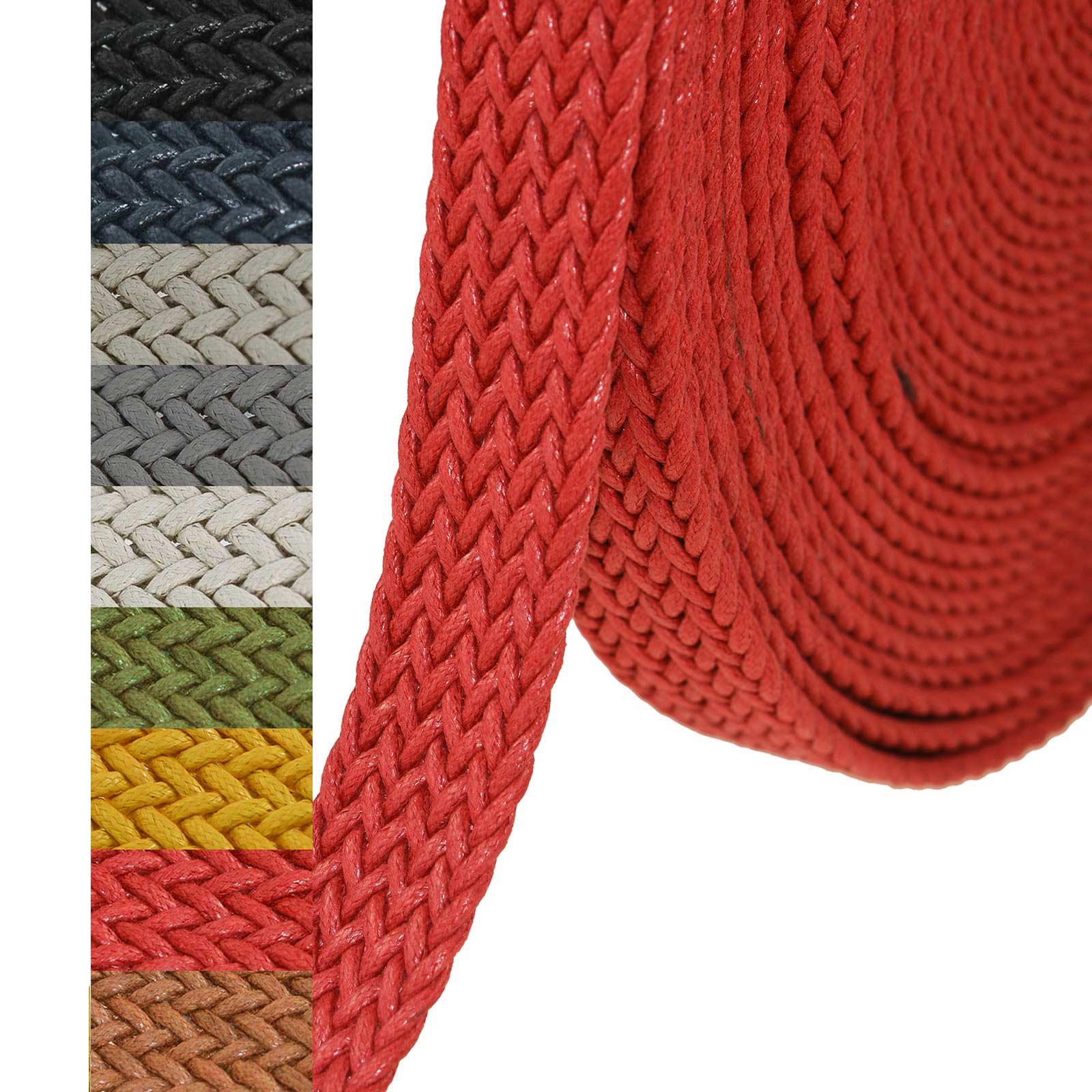 1m Gurtband geflochten Gurte Gurtbänder Kurzwaren Tragegurt Taschengurt Variantenwahl – Bild 16