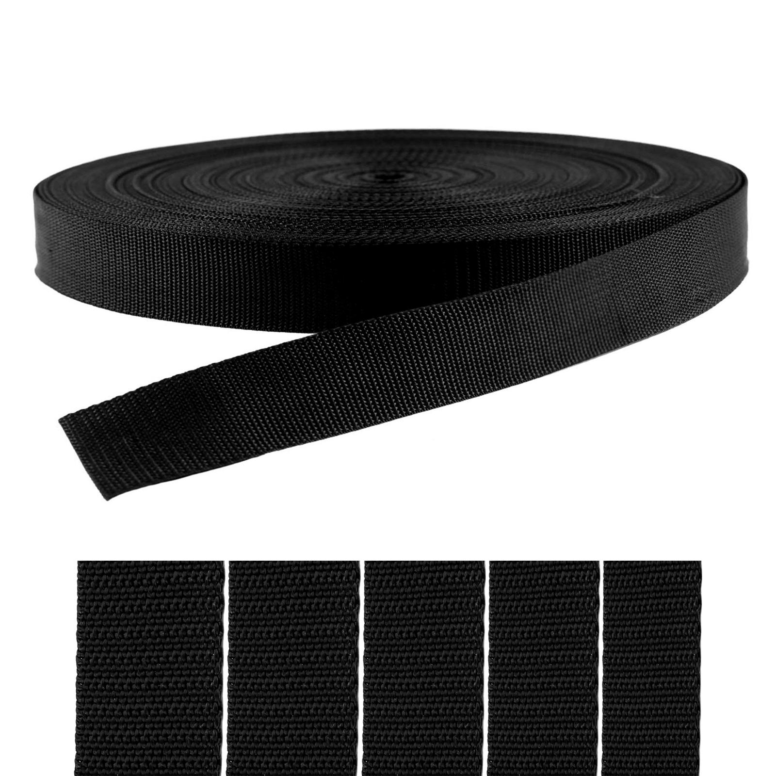 50m PP Gurtband, Polyester, 1,3mm stark, Wähle deine Größe und Farbe – Bild 4