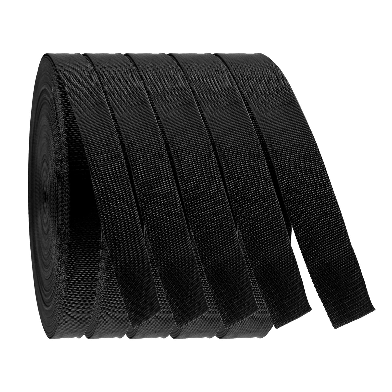 50m PP Gurtband, Polyester, 1,3mm stark, Wähle deine Größe und Farbe – Bild 1