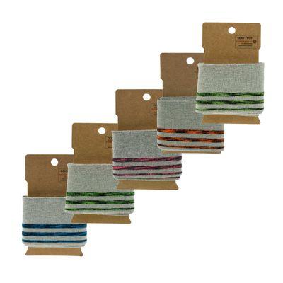 110x7cm Cuff Bündchen Neon Strickbündchen Baumwolle elastisch, Farbwahl