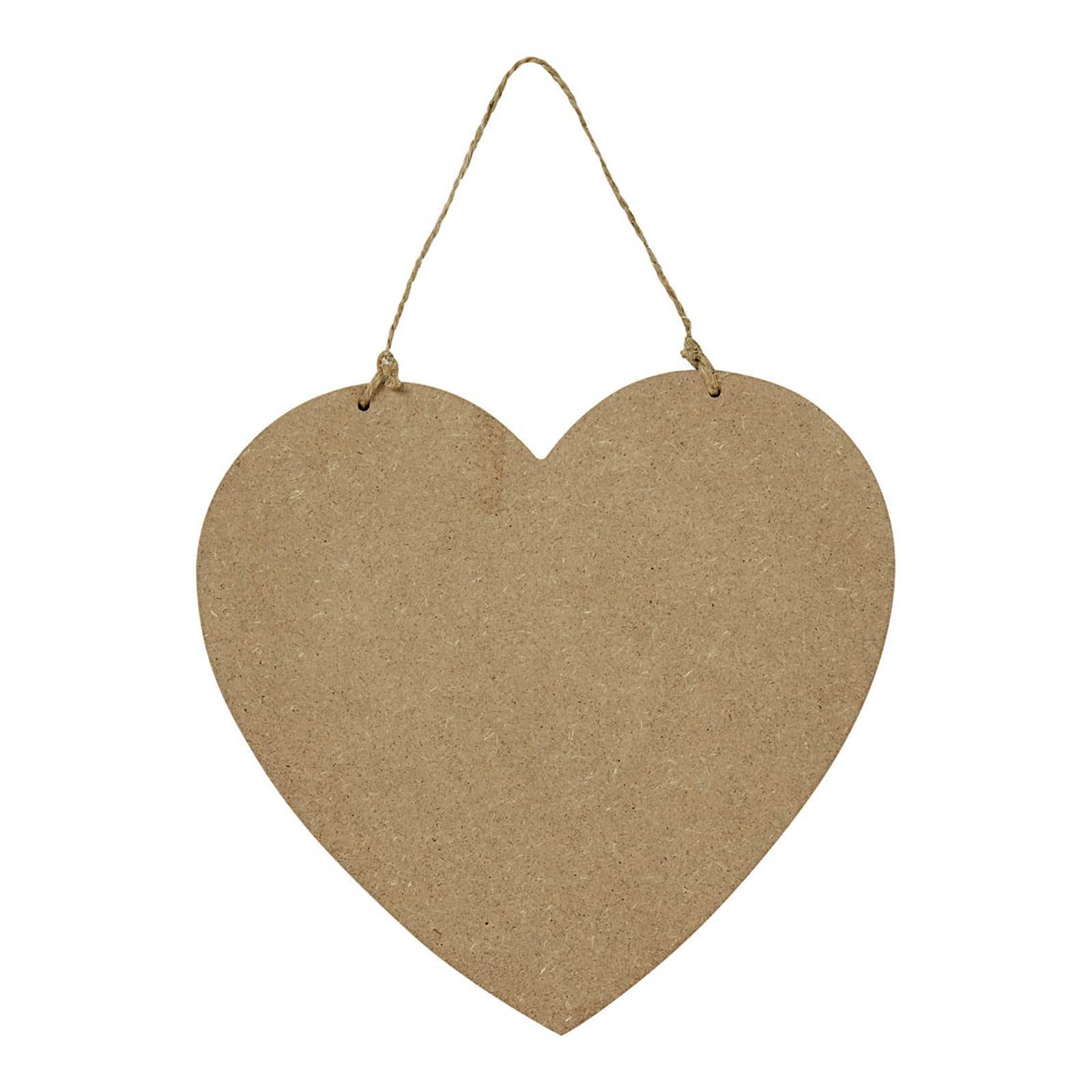 1 Tür-Schild in Herzform Wohndeko Wand-Schild aus Faserholz, Größenwahl – Bild 3