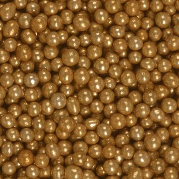 SiLibeads Dekokugeln Antique Gold
