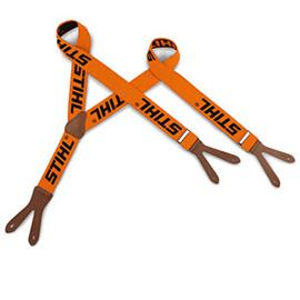 Hosenträger, orange, 120cm, zum Knöpfen