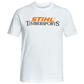 Stihl Für echte STIHL TIMBERSPORTS® Fans T-Shirt- Farbe weiß