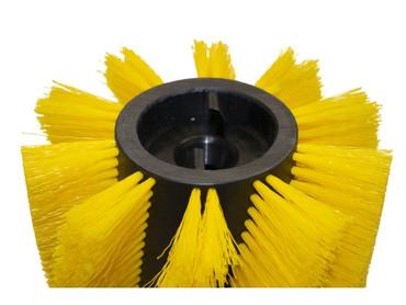 Bürstenwalze für Hako Hakomatic B 1100 / 1100 ES, Poly 0,5 mm gewellt gelb, Walze Walzenbürste Kehrwalze – Bild 4