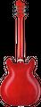Hagstrom Super Viking 04 wild cherry transparent flame Halbakustische Gitarre hollowbody