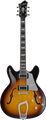 Hagstrom Super Viking 18 tobacco sunburst Halbakustische Gitarre hollowbody