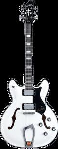 Hagstrom Viking weiss HSVIK02 halbakustische Gitarre hollowbody günstig online kaufen