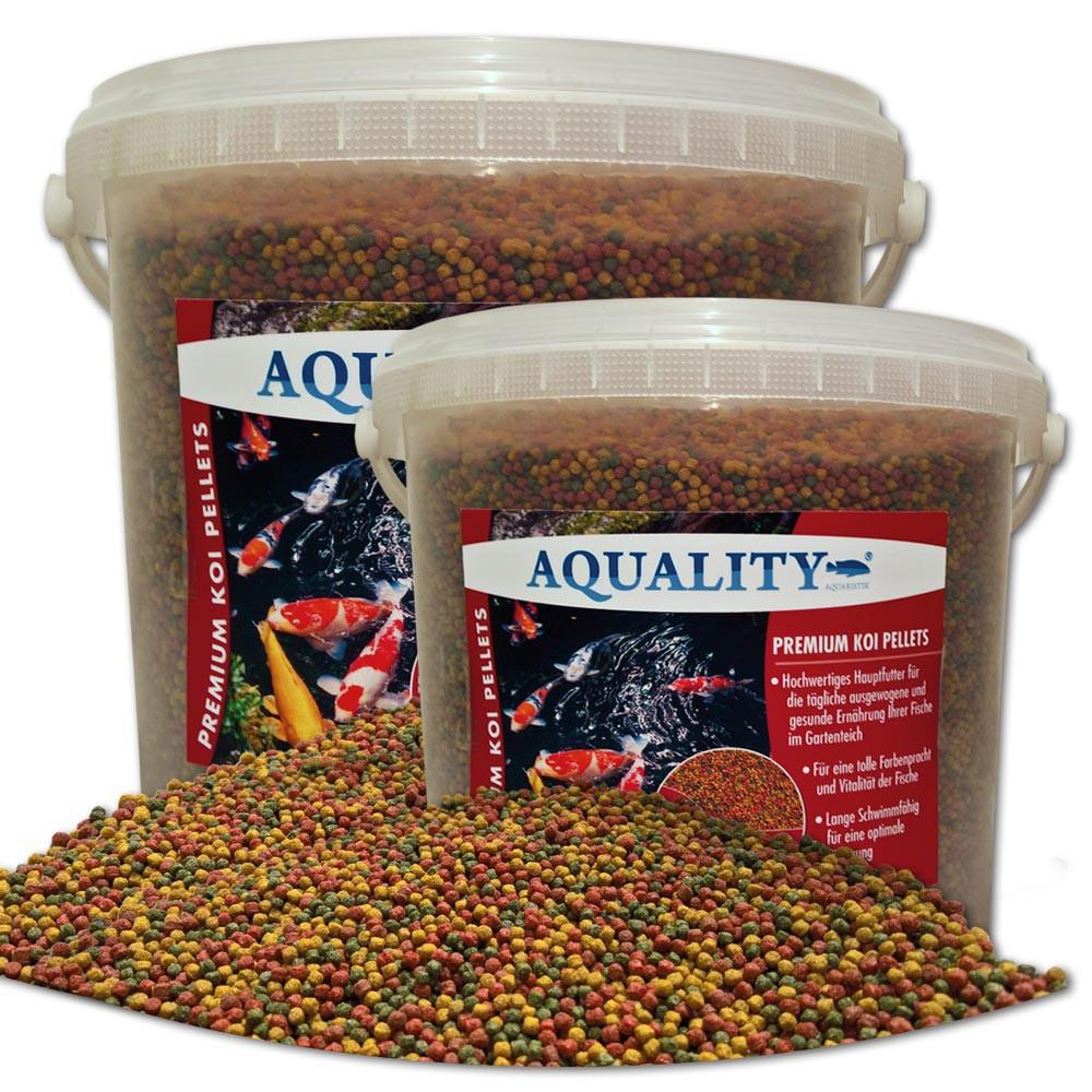 1 80 ltr premium koi futter pellets 3 mm 10 ltr teich for Fische gartenteich geeignet