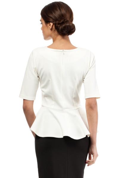 Clea Elegante Bluse mit Rüsche viele Farben