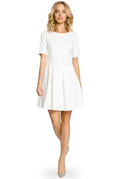 Clea Außergewöhnliches Kleid mit Kellerfalten glockig in Trendfarben
