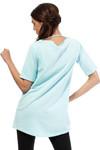 Clea Sporttunika - Bluse Longtop mit großem Herz Pastellfarben