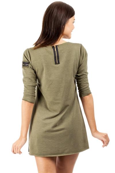 Clea Elegantes Minikleid Kleid Tunika mit Herz Muster