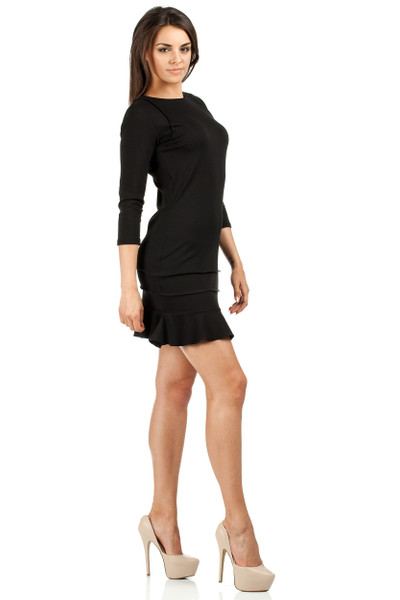 Clea Damen Minikleid mit Rüsche Kleid Einsätze