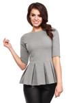 Clea Elegante Bluse mit Plisseefalten Rüschen