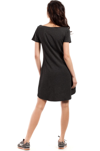 Clea Asymmetrisches Kleid glockiges Kleid Tunika