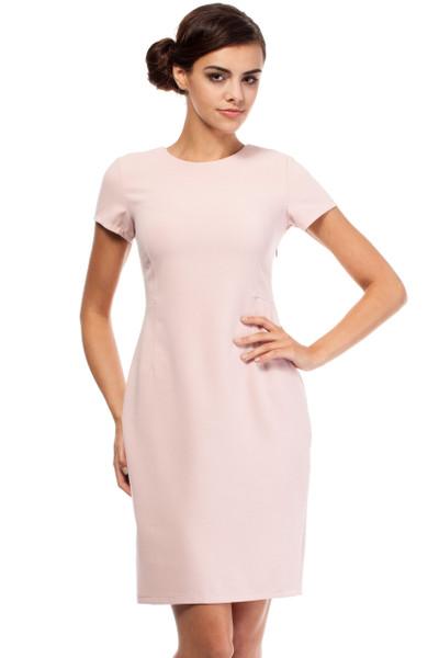 Clea Cocktailkleid klassisches Kleid musterlos kurze Ärmel