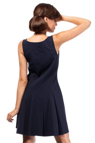 Clea Glockiges Cocktailkleid Kleid musterlos glockig ohne Ärmel Kleid mit Trägern