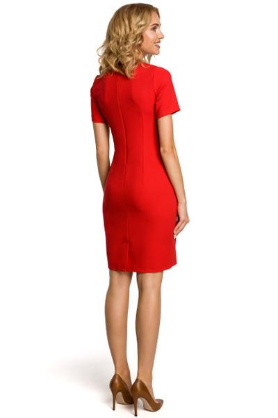 Clea Bleistiftkleid Kleid mit kurzen Ärmeln rautenförmiger Ausschnitt