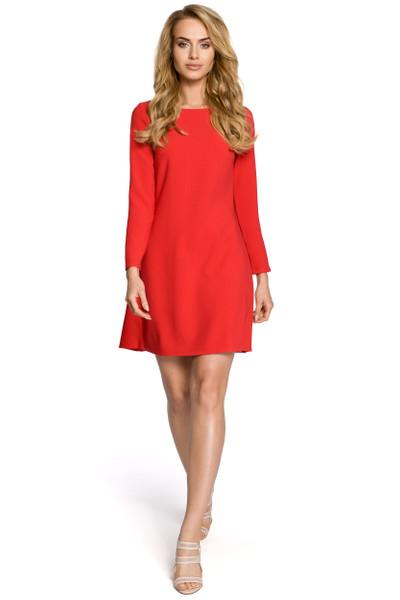 Clea Gesellschaftskleid Ausgehkleid Kleid musterlos mit Plisseefalten