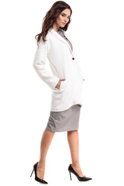 Clea Schlichter Mantel mit langen Ärmeln