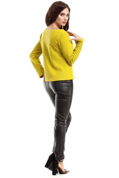 Clea Bluse Pulli Pullover musterlos U-Boot- Ausschnitt