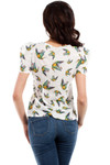 Clea Bluse bauschig Puffärmel Kolibri Kolibris
