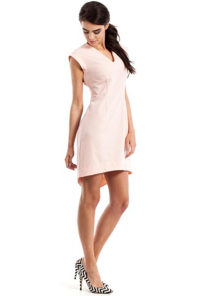 Clea Asymmetrisches Damenkleid ohne Ärmel