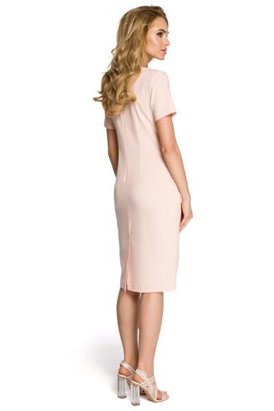 Clea Figurbetontes, gebundenes Damenkleid mit Seitentaschen