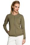 Clea Komfortable Bluse Jacke mit Reißverschluss