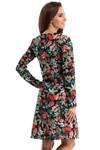 Clea Trapezförmiges Vintage Boho Bohemian Kleid mit V-Ausschnitt