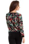 Clea Gemusterte Bluse mit Aufdruck Muster