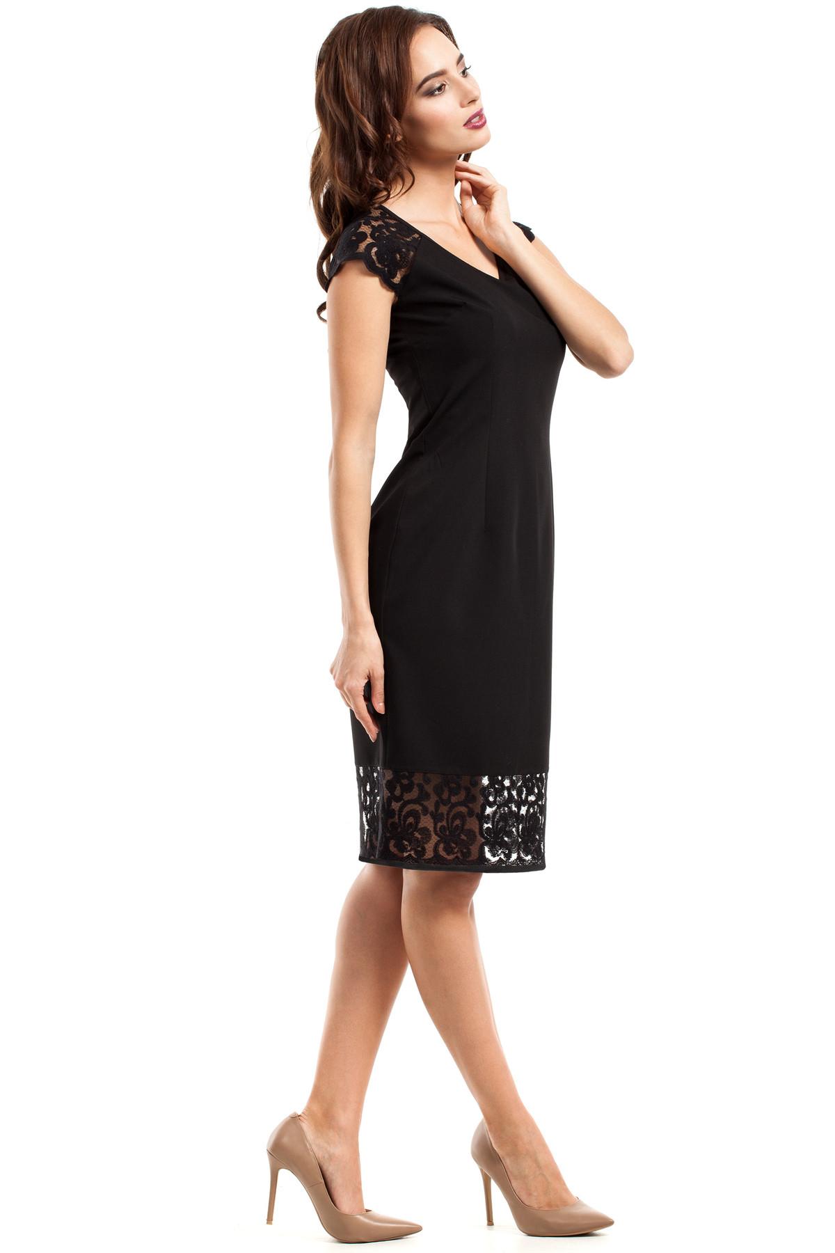 clea weibliches kleid mit gebl mten spitzeneinsatz im. Black Bedroom Furniture Sets. Home Design Ideas