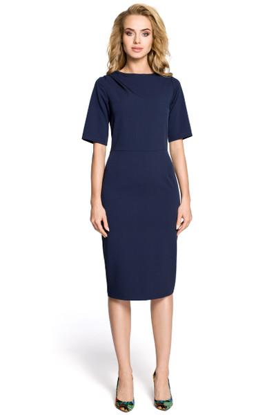 Clea Bleistiftkleid Kleid mit Falten an den Ärmeln