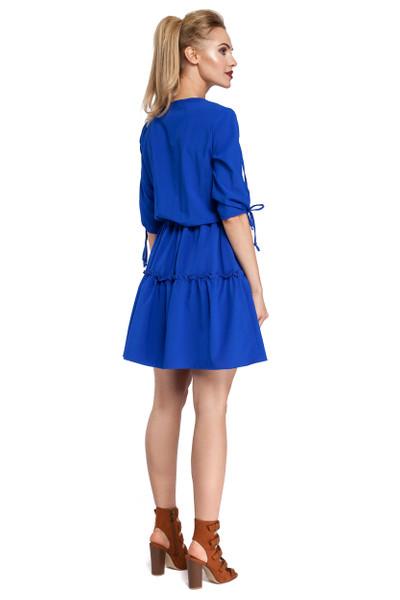Clea Ungewöhnlich modisches Boho Kleid mit zwei faltigen Rüschen