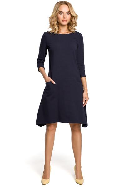 Clea Kleid mit niedrigem Bund und Taschen in Nähten