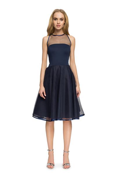 Clea Abendkleid mit Chiffon Ausschnitt