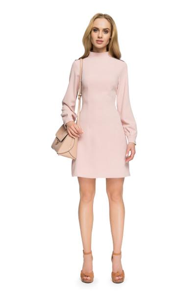 Clea Langärmliges Kleid mit Stehkragen