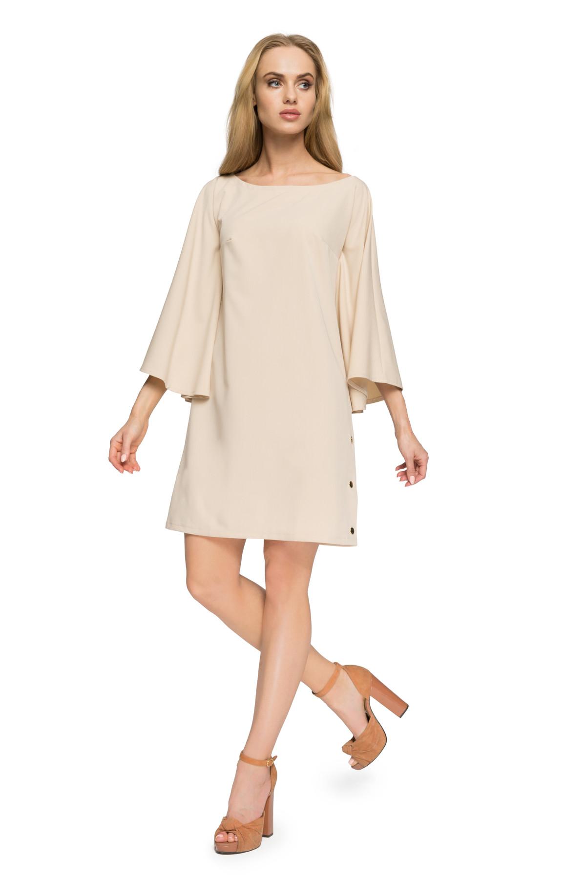 Clea Musterloses und elegantes Kleid mit Fledermausärmeln Damen ...