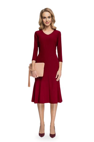 Clea Elegantes Kleid mit V-Ausschnitt