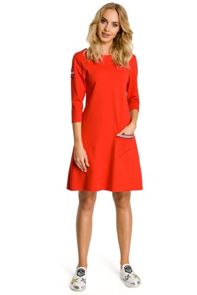 Clea Trapezförmiges Kleid mit Taschen