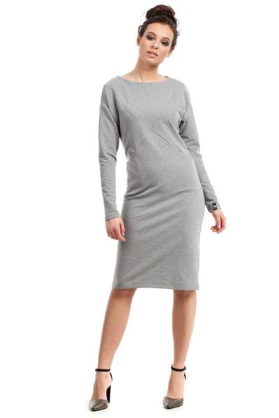 Clea Kleid mit zwei Taschen und langen Ärmeln