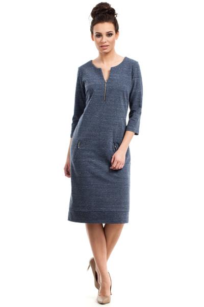 Clea Kleid mit Reißverschlüssen