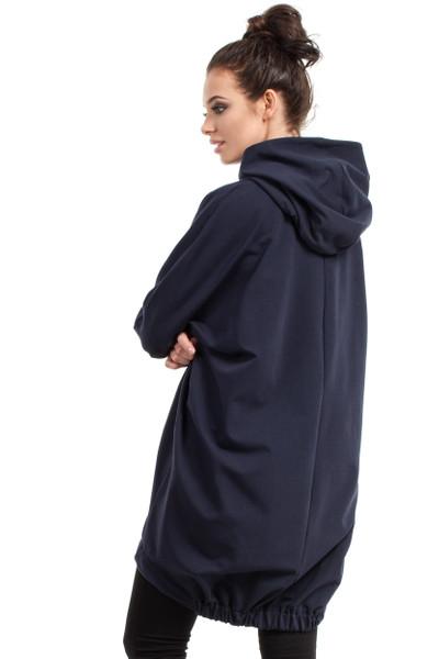 Clea Sweatshirt-Tunika mit Kapuze und Gummiband auf der Rückseite