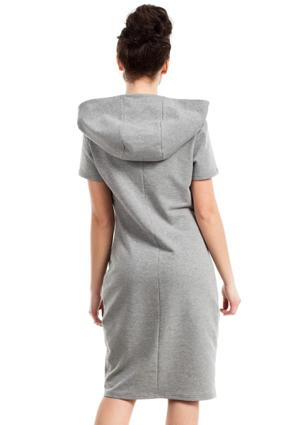 Clea Kleid mit Kapuze und Reißverschlüssen