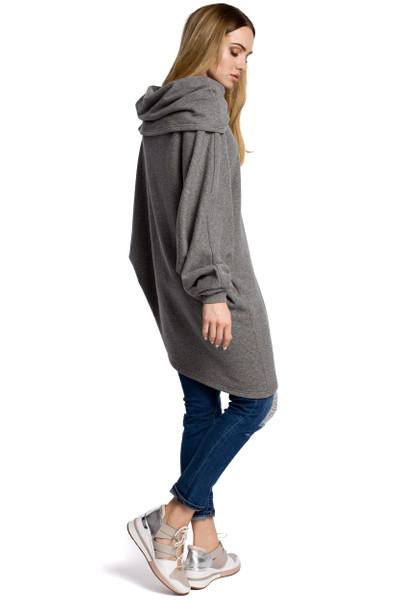 Clea Asymmetrisches Sweatshirt mit breitem Kragen