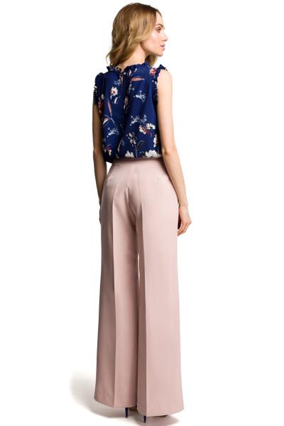 Clea Ärmellose Bluse mit Rüschen